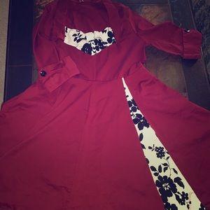 Rockabilly Vintage Quartered Sleeve Dress😍